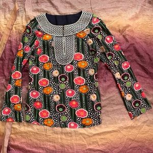 NWOT Tory Burch Floral Print Blouse
